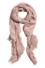 Pleated scarf - Powder pink - Ladies | H&M CN 1