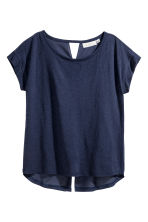 Wide top - Dark blue - Ladies | H&M 2
