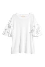 Top met strikdetails - Wit - DAMES | H&M NL 2