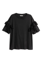 Top with laced details - Black - Ladies | H&M 2