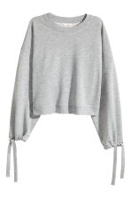 Sweatshirt with drawstrings - Grey marl - Ladies | H&M 2
