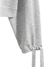 Sweatshirt with drawstrings - Grey marl - Ladies | H&M 3