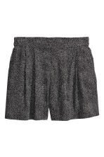 Wide shorts - Black/Spotted - Ladies | H&M CN 2