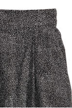Wide shorts - Black/Spotted - Ladies | H&M CN 3