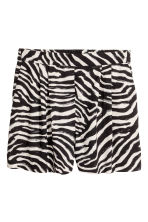 Wide shorts - Zebra print - Ladies | H&M 2
