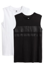 2-pack vest tops - Black -  | H&M 1