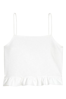 Short frilled strappy top