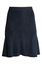 Ribbed skirt - Dark blue -  | H&M 2