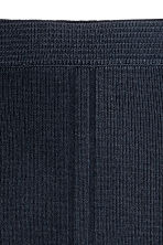 Ribbed skirt - Dark blue -  | H&M 3