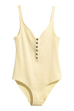 Ribbed body - Light yellow - Ladies | H&M GB 2