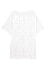 Oversized T-shirt - White - Ladies | H&M 3
