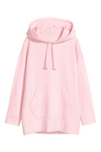 Oversized hooded top - Light pink -  | H&M 2