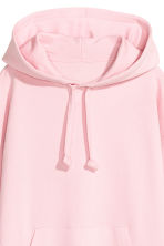Oversized hooded top - Light pink -  | H&M 4
