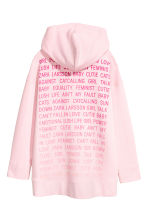 Oversized hooded top - Light pink -  | H&M 3