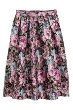 Jacquard-weave skirt - Black/Floral - Ladies | H&M 2
