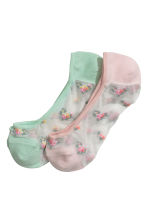 2-pack liner socks - Pink/Floral - Ladies | H&M 1