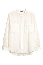 H&M+ Cotton blouse - Natural white/Gold - Ladies | H&M 2