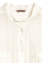 H&M+ Cotton blouse - Natural white/Gold - Ladies | H&M 4