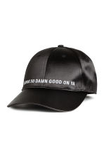 Satin cap - Black - Ladies | H&M CN 1