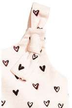 Patterned romper suit - Powder pink/Hearts -  | H&M 2