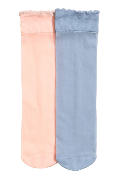 2-pack thin socks - Dusky blue - Ladies | H&M