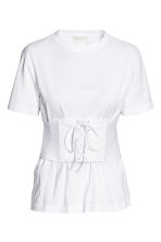 Corset top - White - Ladies | H&M CA 2