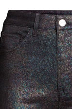 Glittery stretch trousers - Black/Multicolored - Ladies | H&M 3