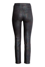 Glittery stretch trousers - Black/Multicolored - Ladies | H&M 2