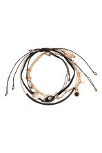 5-pack bracelets - Gold/Black - Ladies | H&M 2