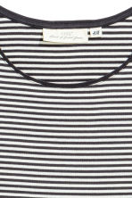 Fitted jersey dress - Dark grey/Striped -  | H&M CA 2