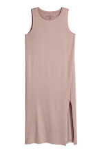 Long jersey dress - Powder pink -  | H&M 2