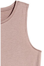 Long jersey dress - Powder pink -  | H&M 3