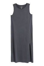 Long jersey dress - Dark grey -  | H&M 2