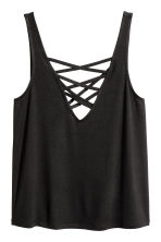 Laced vest top - Black -  | H&M CN 2