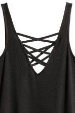 Laced vest top - Black -  | H&M CN 3