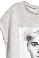 Short sweatshirt dress - Grey/Justin Bieber - Ladies | H&M 3