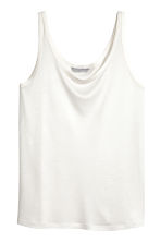 Lyocell jersey vest top - Natural white -  | H&M CN 2
