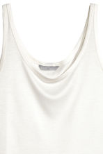 Lyocell jersey vest top - Natural white -  | H&M CN 3