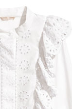 Embroidered cotton blouse - White - Ladies | H&M 4