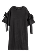Textured dress - Black -  | H&M 2