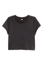 Cropped T-shirt - Black - Ladies | H&M CN 2