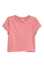 Cropped T-shirt - Coral pink - Ladies | H&M 2