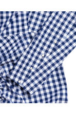 荷葉邊洋裝 - Blue/White/Checked -  | H&M 3