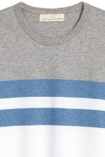Block-patterned T-shirt - White/Grey blue - Men | H&M 3