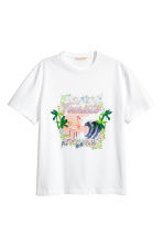 T-shirt con motivo - Bianco - DONNA | H&M IT 2