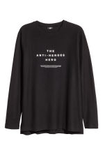 Long-sleeved T-shirt - Black - Men | H&M 2