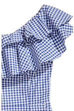 Short flounced dress - Blue/White/Checked - Ladies | H&M 3