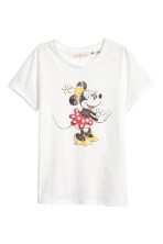 White/Minnie Mouse