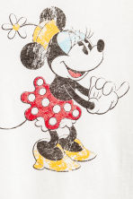 Printed T-shirt - White/Minnie Mouse - Ladies | H&M 3