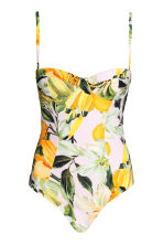Patterned swimsuit - Yellow/Patterned - Ladies | H&M 2